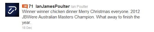 Ian Poulter tweet
