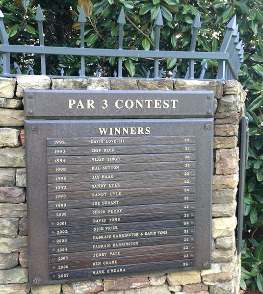 The Masters Par 3 Winners