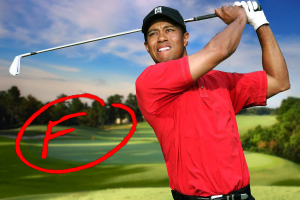 Tiger Woods get an F from Brandel Chamblee