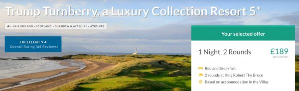 Winter Golf Break at Turnberry