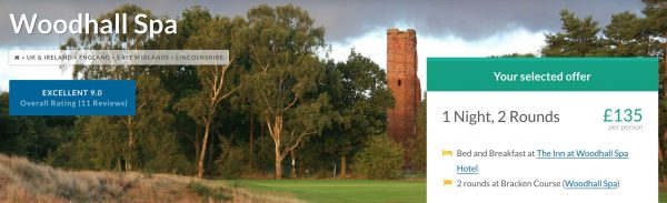 Winter Golf Breaks at Woodhall Spa