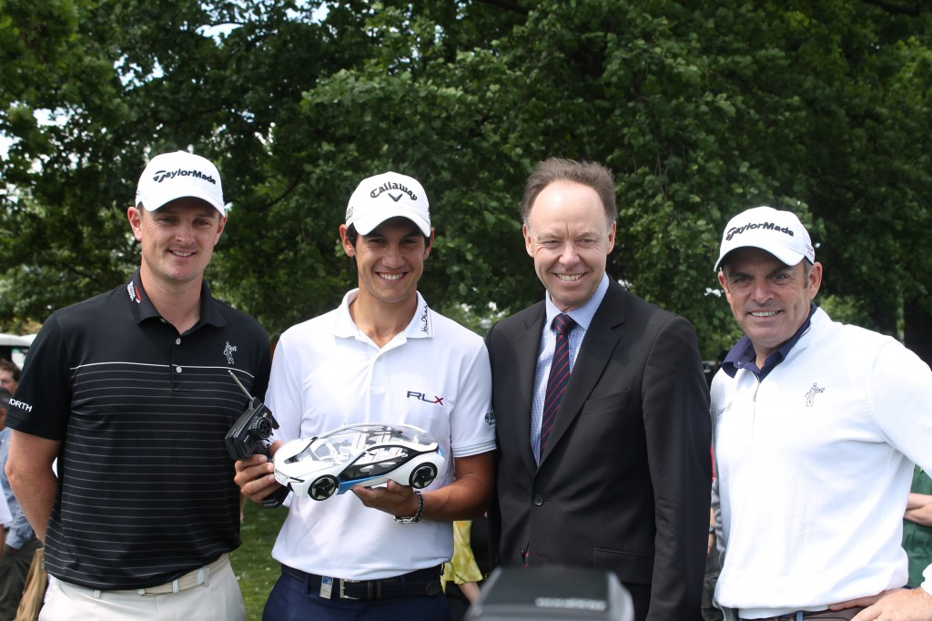 Justin Rose, Matteo Manaserro and Paul McGinley at BMW PGA Hyde Park challenge