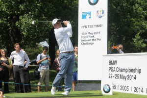 Paul McGinley plays at BMW PGA challenge at Hyde Park
