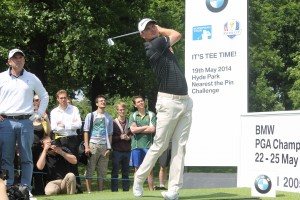 Justin Rose plays at BMW PGA challenge at Hyde Park
