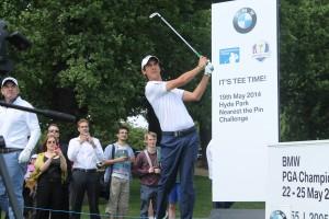 Matteo Manaserro plays at BMW PGA challenge at Hyde Park