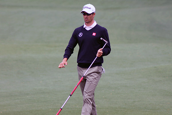 Adam Scott happy with return to long putter at Masters