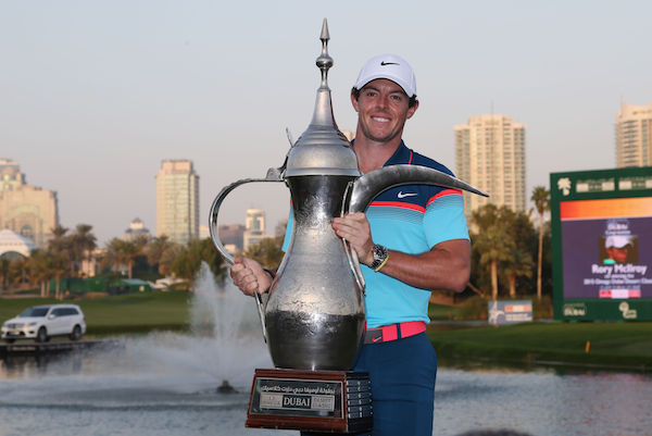 Rory McIlroy victorious at Dubai Desert Classic