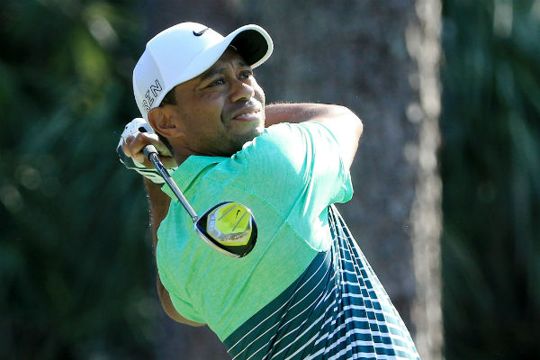 Tiger Woods tee shot