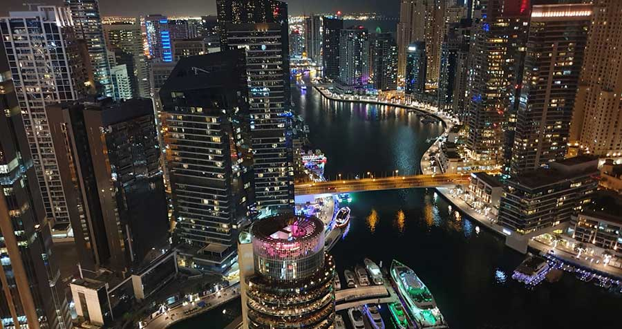 Dubai Marina from the air