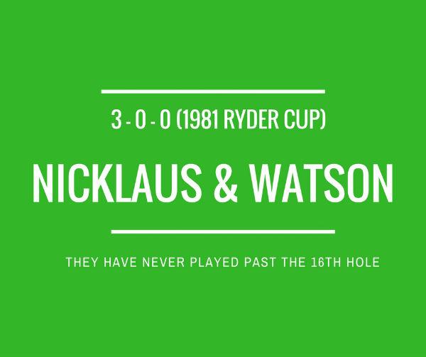 Nicklaus & Watson