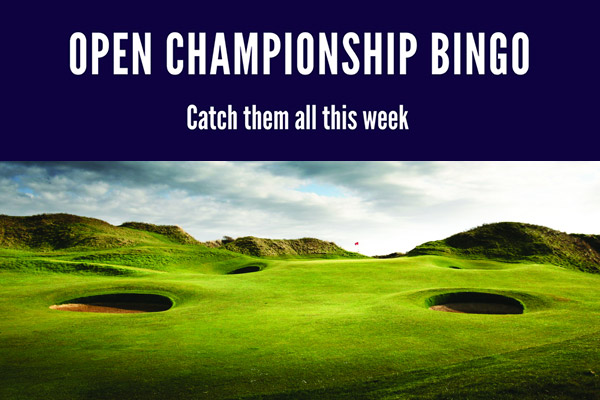 Open Championship Bingo Golf