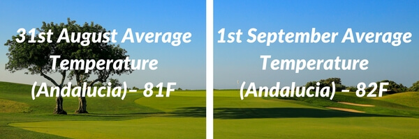 andalucia weather comparison