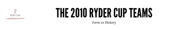 The 2010 Ryder Cup Teams