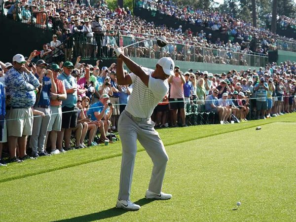Tiger Woods at The Masters in 2018