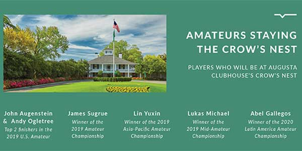 Amateurs playing in The Masters in 2020