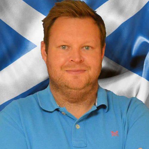 Rob - representing Scotland