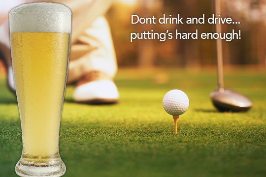 Image result for golf ball and a beer